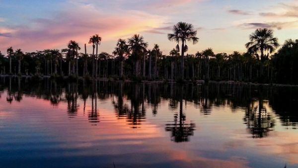 Lagoa das Araras, em Nobres