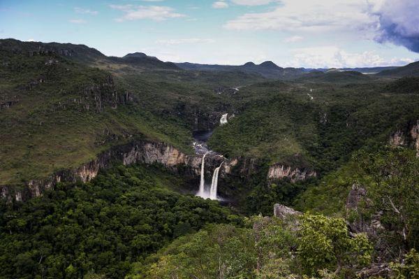 Vista do Mirante da Janela, situado no Parque Nacional da Chapada dos Veadeiros