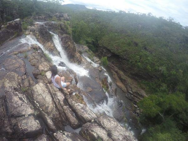 Paredão de pedras da Cachoeira Almécegas II. Créditos: Tawana Miquelino