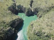Vista aérea dos canyons de Capitólio, Guichê Virtual