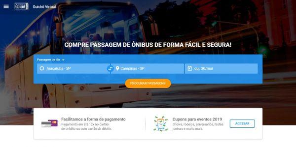 Home do site Guichê Virtual
