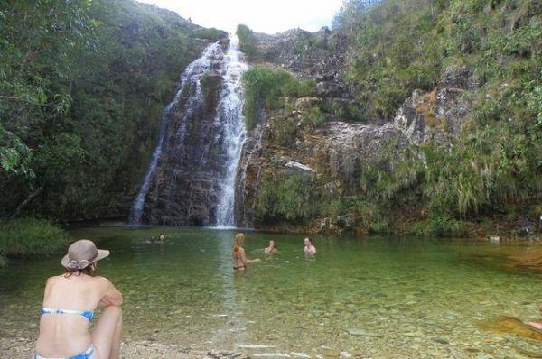 Cachoeira Lagoa Azul, em Capitólio