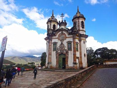 Igreja de São Francisco de Assis, em Ouro Preto na Estrada Real