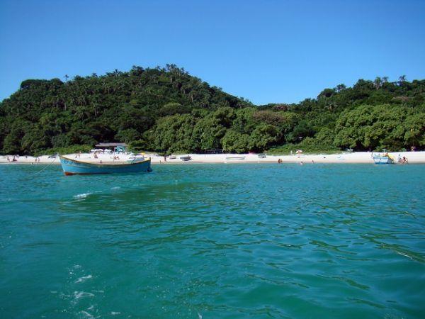 Ilha do Campeche, uma das praias do Sul do Brasil