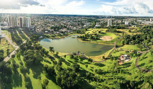 Vista do Parque das Nações Indígenas, em Campo Grande (MS)
